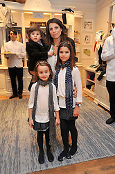 Sharky & George and the RL Gang hosted a pre-Easter Holiday party in support of CLIC Sargent at the Ralph Lauren Children's store, 139/141 Fulham Road, London SW3 on 23rd March 2011.<br /> Image shows:- LOLA IRAOLA with her children FRANCESCA, ANTONIA and JUSTO.
