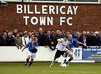 Photo: Olly Greenwood/Sportsbeat Images.<br />Billericay Town v Swansea City. The FA Cup. 10/11/2007. Swansea's Andrea Orlandi and Billericay's Joe Flack