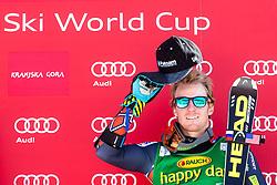 Winner LIGETYTed of USA at medal ceremony during the 2nd Run of Men's Giant Slalom - Pokal Vitranc 2014 of FIS Alpine Ski World Cup 2013/2014, on March 8, 2014 in Vitranc, Kranjska Gora, Slovenia. Photo by Matic Klansek Velej / Sportida