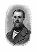 Otto von Bismarck (1815-1904) German (Prussian) statesman. Bismarck in 1850 when Conservative Deputy and Inspector of Dykes. Engraving