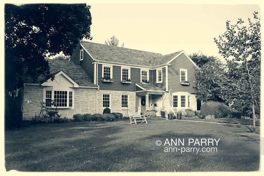 Rockville Centre, New York, U.S. September 21, 2020. Ruth Bader and Martin Ginsburg were married in his family's Rockville Centre Colonial home in 1954. BRIAN SCHIELE and CHLOE SCHIELE bought the house from Martin Ginsburg's sister and brother-in-law, Claire and Edward Steipleman.