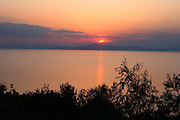 Greece, Thessaly, Kalamos, Sunset