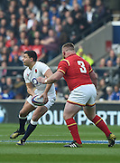Twickenham. Great Britain.<br /> Ben YOUNGS, looking for the out pass at the <br /> RBS Six Nations Rugby, England vs Wales at the RFU Twickenham Stadium. England.<br /> <br /> Saturday  12/03/2016 <br /> <br /> [Mandatory Credit; Peter Spurrier/Intersport-images]