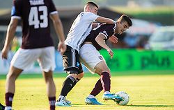 Luka Bobičanec of Mura vs Egzon Kryeziu of Triglav during football match between NK Triglav and NS Mura in 5th Round of Prva liga Telekom Slovenije 2019/20, on August 10, 2019 in Sports park, Kranj, Slovenia. Photo by Vid Ponikvar / Sportida