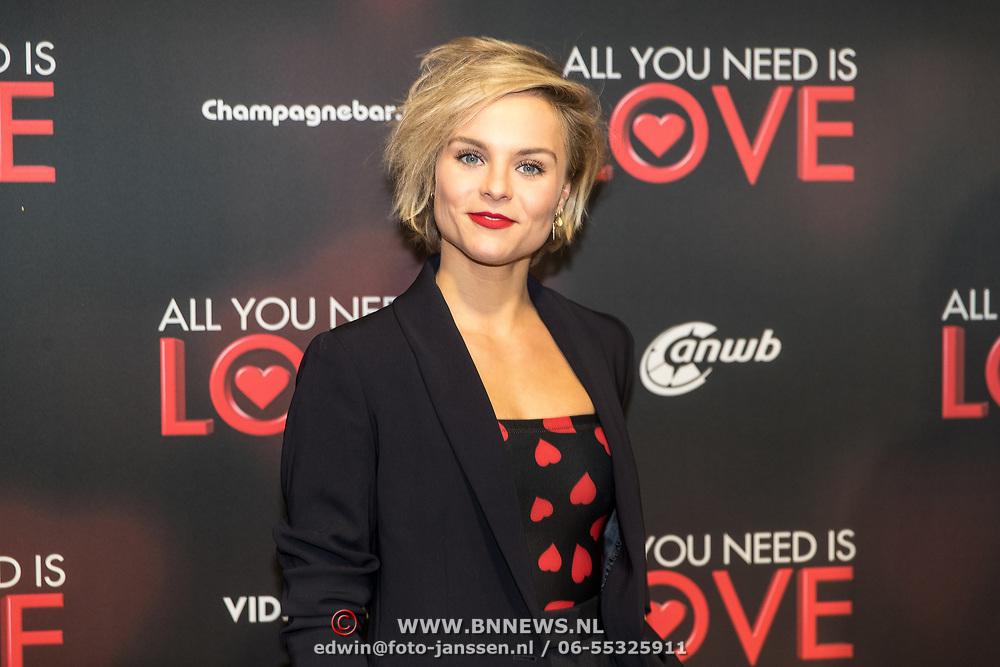 NLD/Amsterdam/20181126 - premiere All You Need Is Love, Stijn Fransen en Barbara Sloesen