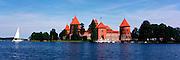 Panoramic view of Trakai Castle