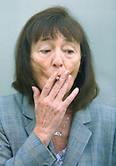 Author and favourite to win this year's Booker prize, Beryl Bainbridge, pictured at the Edinburgh International Book Festival where she gave a talk about her work.......