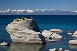 """Bonsai Rock, Lake Tahoe 2"" - Photograph of Bonsai Rock and a very blue Lake Tahoe."