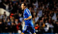Photo: Alan Crowhurst.<br />Chelsea v FC Porto. UEFA Champions League. Last 16, 2nd Leg. 06/03/2007. Chelsea's Arjen Robben celebrates his goal 1-1.