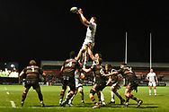 Ospreys had a solid lineout but could not capitalise on it during the Guinness Pro 14 2017_18 match between Edinburgh Rugby and Ospreys at Myreside Stadium, Edinburgh, Scotland on 4 November 2017. Photo by Kevin Murray.