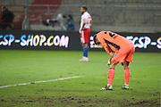 Fussball: 2. Bundesliga, FC St. Pauli - Hamburger SV, Hamburg, 01.03.2021<br /> Enttäuschung bei Sven Ullreich (HSV)<br /> © Torsten Helmke