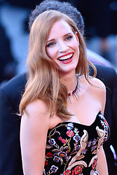 Jessica Chastain arriving at Les Fantomes d'Ismael screening and opening ceremony held at the Palais Des Festivals in Cannes, France on May 17, 2017, as part of the 70th Cannes Film Festival. Photo by Aurore Marechal/ABACAPRESS.COM