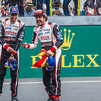 Fernando Alonso and  Sebastien Bueme, #8, Toyota Gazoo Racing on 17/06/2018 at the 24H of Le Mans, 2018