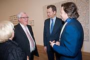 FRANK DUNPHY; OLIVER BARKER; DANNY MOYNIHAN, Damien Hirst, Tate Modern: dinner. 2 April 2012.