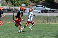 KELOWNA, BC - JULY 27: The Okanagan Sun football club scrimmages at Parkinson Fields on July 27, 2019 in Kelowna, Canada. (Photo by Marissa Baecker/Shoot the Breeze)