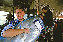 Dom With Surfboard On Bus