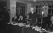 Mr Alf Murray, Armagh speaking  after his election as new President of the GAA at the annual GAA Congress in the Gresham Hotel, Dublin on Sunday...Annual Congress, GAA. 29.3.1964. 29th March 1964