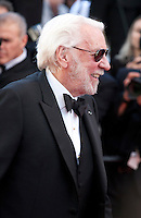 Actor Donald Sutherland at the gala screening for the film The Last Face at the 69th Cannes Film Festival, Friday 20th May 2016, Cannes, France. Photography: Doreen Kennedy