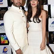 Farhan Saeed,Urwa Hocane Pakistani VJ model and actress arrives at the Annual International Pakistan Prestige Awards (IPPA) at Indigo at The O2 on 9th September 2018, London, UK.