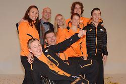 02-01-2014 ALGEMEEN: NOC NSF TEAMOVERDRACHT SOTSJI: ARNHEM<br /> Op Papendal werd vandaag (donderdag) het Olympisch- en Paralympisch team overgedragen aan de Chef de Mission / Het Paralympische team met oa. Andre Cats, Anna Jochemsen, Kees-Jan van der Klooster, Merijn Koek, Bibian Mentel, Bart Verbruggen en Chris Vos <br /> ©2014-FotoHoogendoorn.nl
