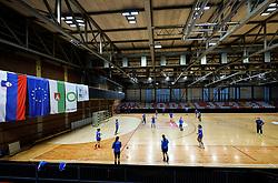 General view of arena Kodeljevo during practice session of Slovenian National Women team before 2021 World Women's Handball Championship qualifying match against Iceland, on April 12, 2021 in Arena Kodeljevo, Ljubljana, Slovenia. Photo by Vid Ponikvar / Sportida