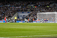 Philippe Coutinho of Liverpool sees his penalty saved by Manchester city goalkeeper Wilfredo Caballero in the penalty shoot out. Capital One Cup Final, Liverpool v Manchester City at Wembley stadium in London, England on Sunday 28th Feb 2016. pic by Chris Stading, Andrew Orchard sports photography.