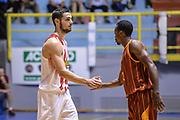 DESCRIZIONE : 5° International Tournament City of Cagliari Olympiacos Piraeus Pireo - Galatasaray<br /> GIOCATORE : Ioannis Papapetrou Errick McCollum<br /> CATEGORIA : Fair Play Before Pregame<br /> SQUADRA : Olympiacos Piraeus Pireo<br /> EVENTO : 5° International Tournament City of Cagliari<br /> GARA : Olympiacos Piraeus Pireo - Galatasaray Torneo Città di Cagliari<br /> DATA : 18/09/2015<br /> SPORT : Pallacanestro <br /> AUTORE : Agenzia Ciamillo-Castoria/L.Canu