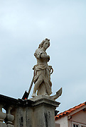 Statue representing Hope, atop the church of Saint Blaise (Sveti Vlaho), Dubrovnik old town, Croatia