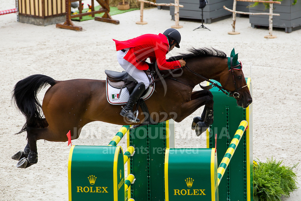 Juan Carlos Franco, (MEX), Quin Chin - Team & Individual Competition Jumping Speed - Alltech FEI World Equestrian Games™ 2014 - Normandy, France.<br /> © Hippo Foto Team - Leanjo De Koster<br /> 02-09-14