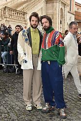Rome, Piazza Del Campidoglio Event Gucci Parade at the Capitoline Museums, Pictured: Fabio and Damiano D'Innocenzo