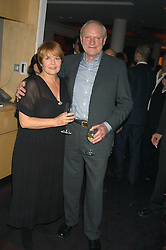 Actor JULIAN GLOVER and ISLA BLAIR at an after show party following the opening of the Old Vic's production of Richard 11 held at the City Inn, 30 John Islip Street, London W1 on 5th October 2005.<br />