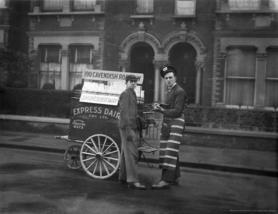 Milk Delivery, London, 1933