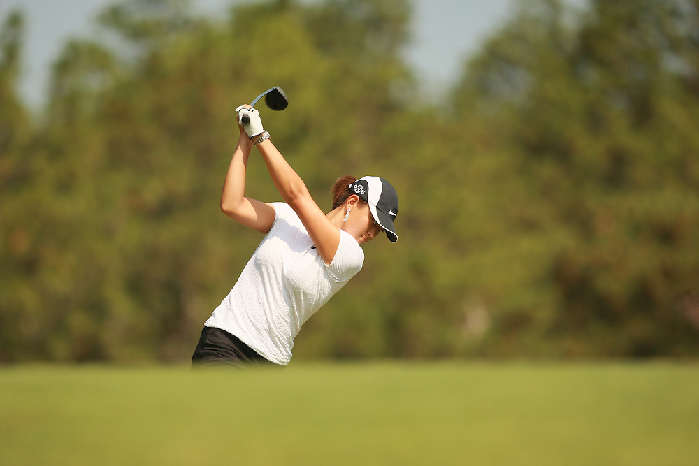 SOUTHERN PINES, NC - JUNE 28:  Michelle Wie at the top of her backswing while hitting a shot during the first round of the 2007 U.S. Women's Open Championship in Southern Pines, North Carolina at Pine Needles Lodge and Golf Club on Thursday, June 28, 2007. (Photo by Darren Carroll/Getty Images) *** LOCAL CAPTION *** Michelle Wie
