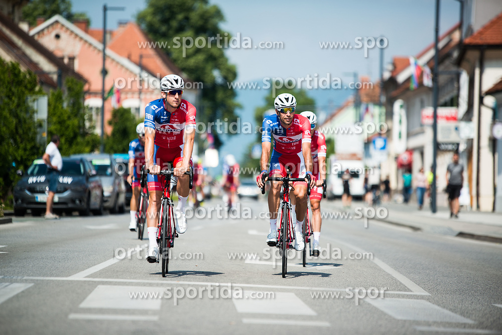 Adria Mobile team before 3rd Stage of 26th Tour of Slovenia 2019 cycling race between Zalec and Idrija (169,8 km), on June 21, 2019 in Slovenia. Photo by Peter Podobnik / Sportida