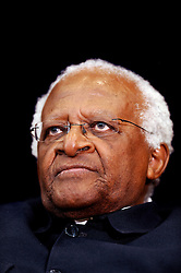 Archbishop Emeritus Desmond Tutu receives the 2008 J. William Fulbright Prize for International Understanding at the Department of State in Washington, DC, USA, on November 21, 2008. Photo by Olivier Douliery/ABACAPRESS.COM  | 170837_003 Washington