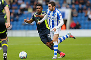 Colchester United's Drey Wright(7) Carlisle United's Kelvin Etuhu  battles for possession during the EFL Sky Bet League 2 match between Colchester United and Carlisle United at the Weston Homes Community Stadium, Colchester, England on 14 October 2017. Photo by Phil Chaplin