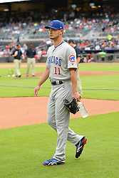 May 15, 2018 - Atlanta, GA, U.S. - ATLANTA, GA Ð MAY 15:  Cubs starting pitcher Yu Darvish (11) walks to the bullpen prior to the start of the game between Atlanta and Chicago on May 15th, 2018 at SunTrust Park in Atlanta, GA. The Chicago Cubs beat the Atlanta Braves by a score of 3 Ð 2.  (Photo by Rich von Biberstein/Icon Sportswire) (Credit Image: © Rich Von Biberstein/Icon SMI via ZUMA Press)