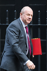 Downing Street, London, March 7th 2017. Work and Pensions Secretary Damian Green arrives in Downing Street for a mini cabinet meeting ahead of the Chancellor's March 8th budget.