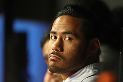 Leicester Tigers centre Manu Tuilagi watches the snooker, during day twelve of the 2018 Betfred World Championship at The Crucible, Sheffield.