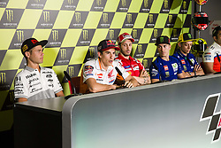 June 8, 2017 - Barcelona, Spain - MotoGP, Alvaro Bautista(Spa), Pull&Bear Aspar Team, Marc Marquez(Spa), Repsol Honda Team, Andrea Dovizioso(Ita), Ducati Team, Maverick Vinales(Spa), Movistar Yamaha Motogp Team, Valentino Rossi(Ita) during the press conference of MotoGp Grand Prix Monster Energy of Catalunya, in Barcelona-Catalunya Circuit, Barcelona on 8th June 2017 in Barcelona, Spain. (Credit Image: © Urbanandsport/NurPhoto via ZUMA Press)