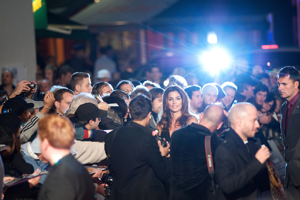 Model Cindy Crawford arrives for the world premiere of 'Fantastic Mr. Fox,' on Wednesday night, October 13, 2009, at the Odeon, Leicester Square in London. Director Wes Anderson's film adaptation of the Roald Dahl classic children's story, opened the 53rd BFI London Film Festival.
