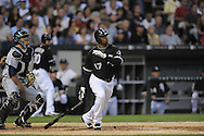 CHICAGO - AUGUST 19:  Ken Griffey Jr. #17 of the Chicago White Sox bats during the game against the Seattle Mariners at U.S. Cellular Field in Chicago, Illinois on August 19, 2008.  The White Sox defeated the Mariners 5-0.  (Photo by Ron Vesely)