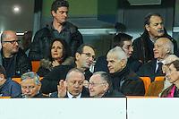 Jean Michel Aulas / Bernard Lacombe - 08.03.2015 -  Montpellier / Lyon  -  28eme journee de Ligue 1 <br />Photo : Andre Delon / Icon Sport<br /><br />  *** Local Caption ***