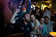 Voters watch the results coming at the Forest Cafe. Most are YES voters and hope for a YES win. Through out he night the lead changed and the YES campaign was in the lead for a moment. Scottish referendum in Edinburgh. All through out the day a huge number of voters turned out asll over Scotland to vote in the independence referendum. The polls were open from 7am till 10pm and the count went on through-out the night with the final results announced early in the following morning.