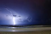 Israel, Mediterranean sea, Lightning storm