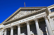 Palacio de las Cortes, Congreso de Los Diputados, Congress of Deputies, Houses of Parliament, Madrid, Spain