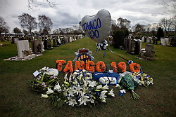 © licensed to London News Pictures. Stafford, UK  17/03/2012. Tributes and flowers left at the funeral of PC David Rathband. Photo credit should read Joel Goodman/LNP