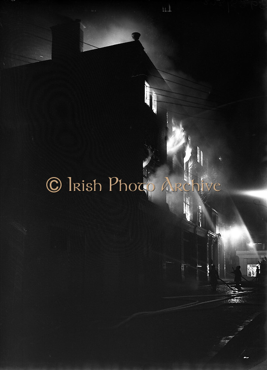 Fie at Exchequer St and Dame Court in the building Owned by Central Hotel.05/01/1954