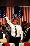 US President Bill Clinton campaigns during the 1996 presidential campaign.