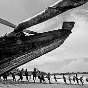 Fishermen working nets in Sri Lanka<br /> (Canon MK IV with 70-200 Lens)